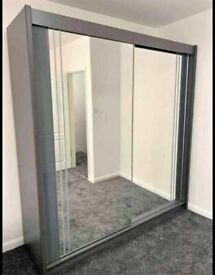 💥💯BRAND NEW 2020 SALE 2/3 DOORS SLIDING WARDROBE WITH FULL MIRRORS ALL SHELVES & RAILS INCLUDED