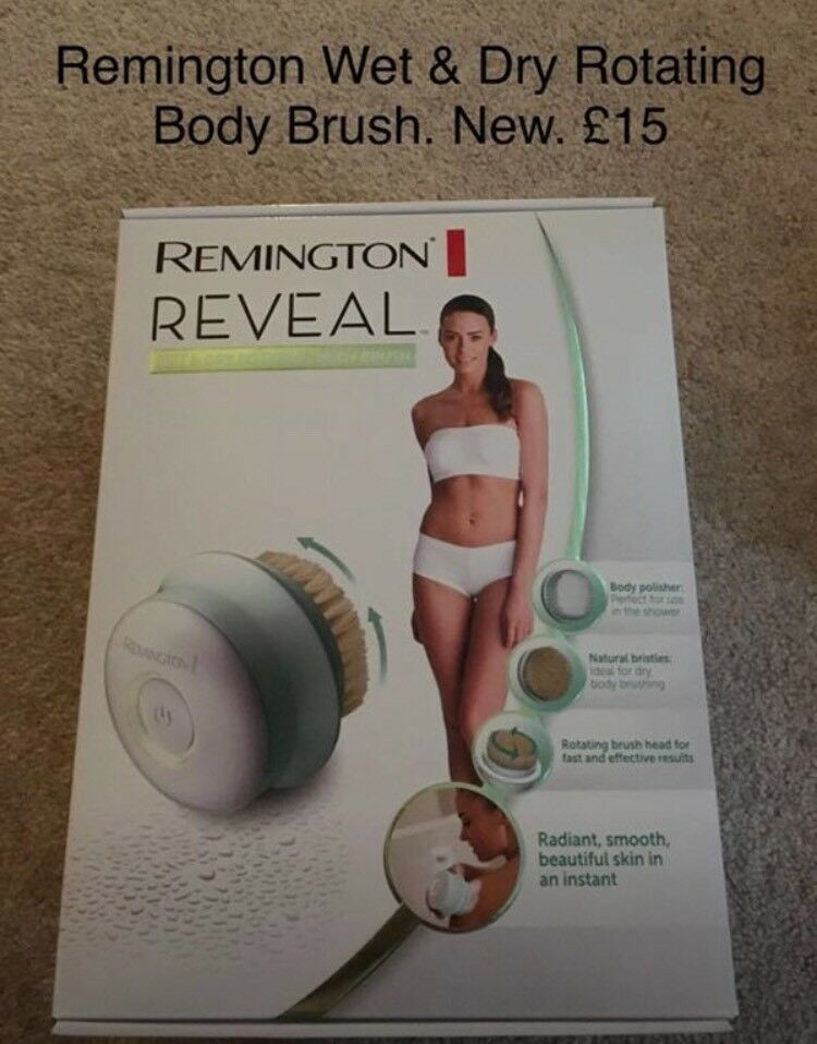 Remington Reveal Wet & Dry Rotating Body Brush, Brand new and sealed, Greylees. £15 Ono