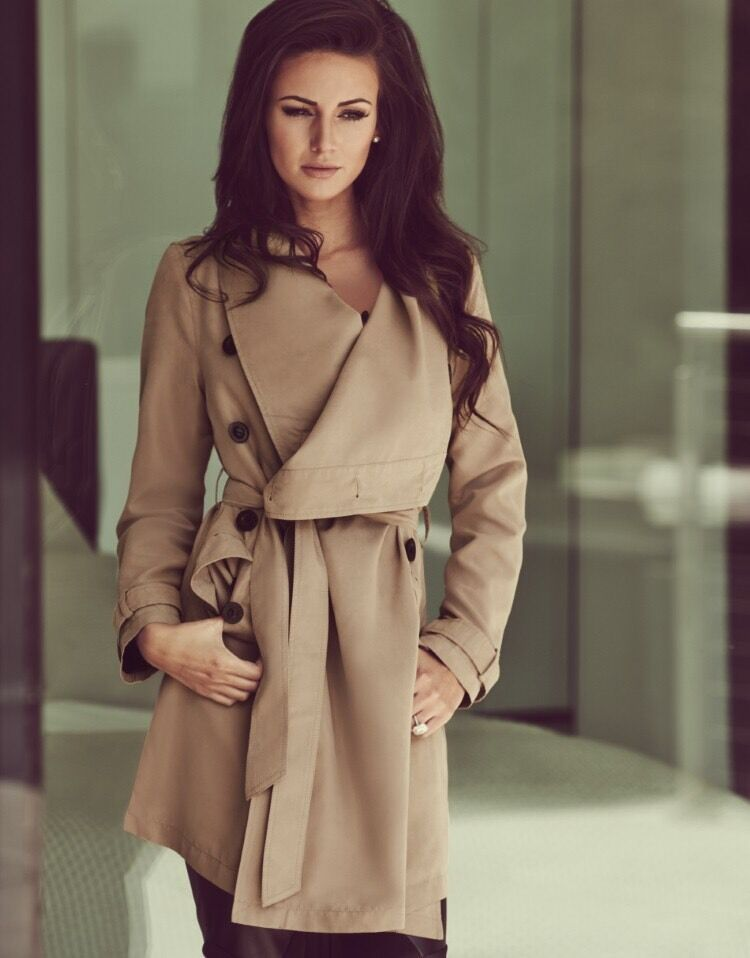 NEW! Lipsy Michelle Keegan waterfall coat