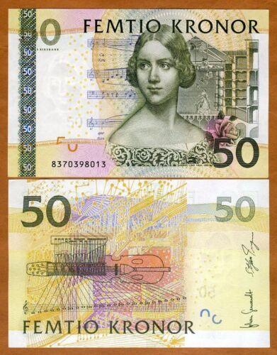 Sweden, 50 Kronor, 2008, P-64b, UNC