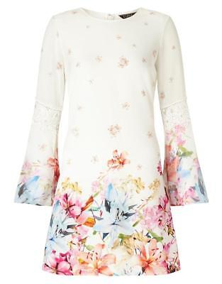 Floral Bell (LIPSY FLORAL PRINTED BELL SLEEVE DRESS/TUNIC BNWOT )