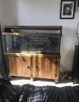 4ft Turtle/fish tank, stand, hood and the lot