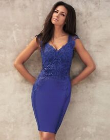 Lipsy Applique Bodycon Dress (Size 6)
