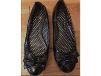 Faith black patent pumps 7 (worn once)
