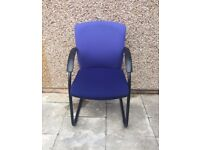 BLUE FABRIC CONFERENCE CHAIRS - MEETINGS/OFFICES