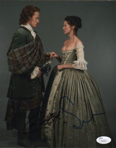 Sam Heughan Caitriona Balfe Outlander Autographed Signed 8x10 Photo JSA COA #2