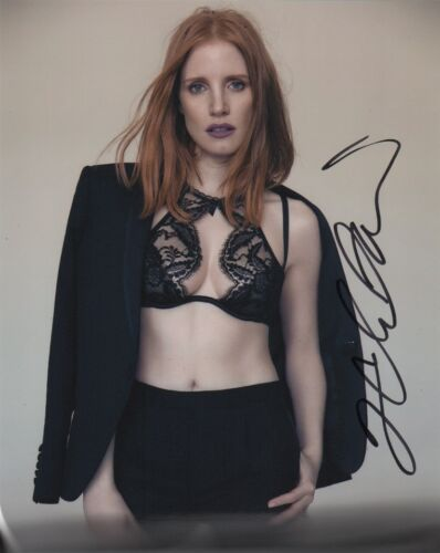 Jessica Chastain Sexy Autographed Signed 8x10 Photo COA #12