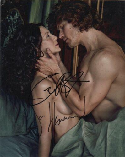 Sam Heughan Caitriona Balfe Outlander Autographed Signed 8x10 Photo COA #C13