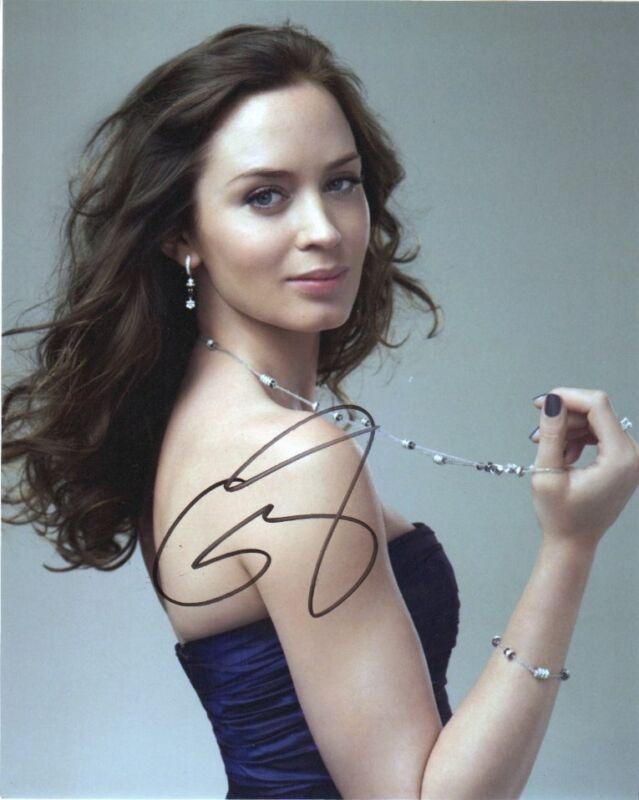 Emily Blunt Autographed Signed 8x10 Photo COA #3