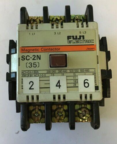 FUJI ELECTRIC SC-2N/4NC1Q0 MAGNETIC CONTACTOR 35A, 220-240V