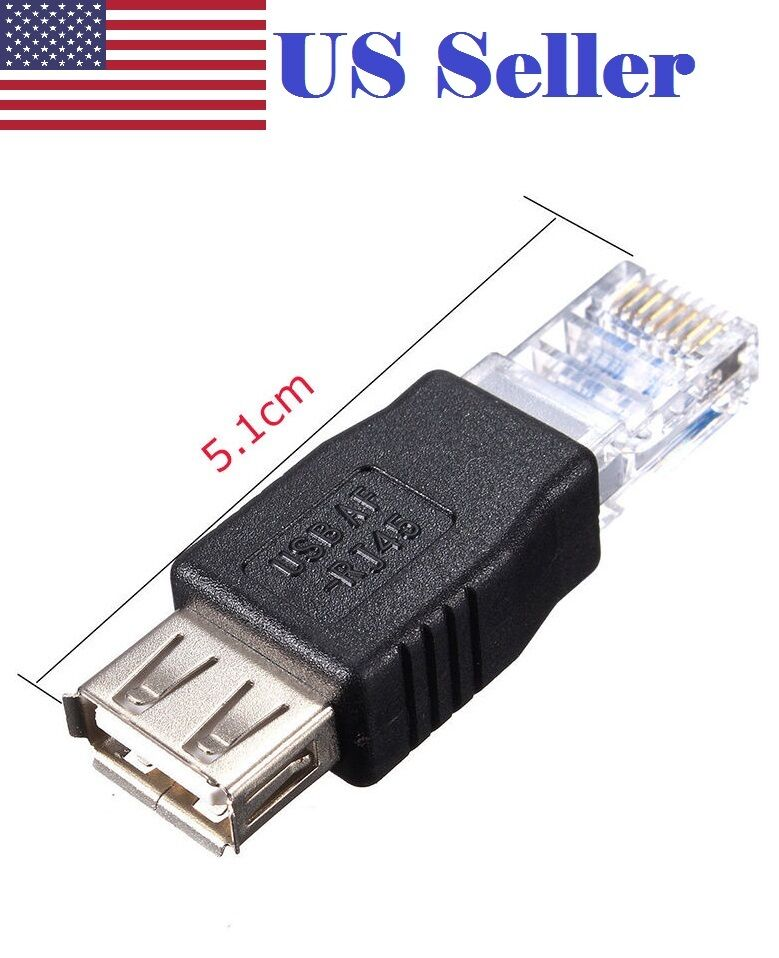 new rj45 male to usb af a