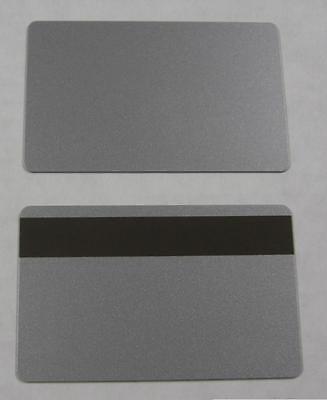 500 Pvc Plastic Cards Silver 30mil Cr80 Hico Magnetic Mag Stripe