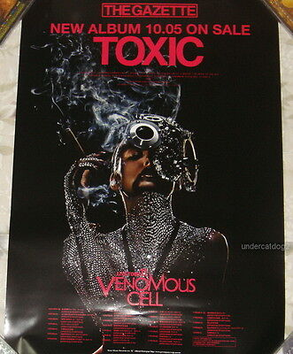 The Gazette Toxic 2011 Japan Promo Poster  Very Rare