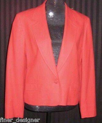 Pendleton blazer Red wool classic career lined suit coat light jacket 12 VTG NEW