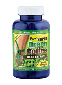 Pure SUPER Green Coffee Bean Extract Weight Loss 800 mg Chlorogenic Acid diet