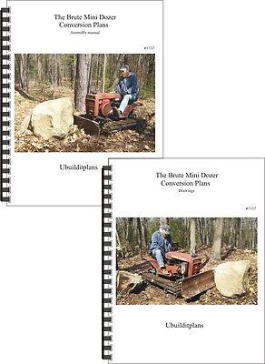 Brute Mini Dozer Conversion Plans For 8-28hp Garden Tractors