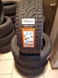 225/45R17 BRAND NEW SET WINTER TIRES POWERTRAC 225/45/R17 WHEELS 225 45 17