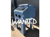 WANTED ..SAND BLASTER CABINETT PLUS OVEN FOR WHEELS