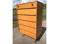 Vintage Tallboy Chest of drawers