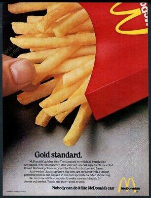 1980 McDonald's restaurants French fries photo Gold Standard vintage ad ()