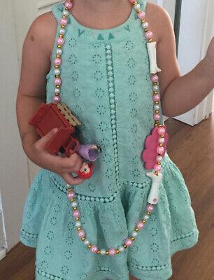 Designer Isaac Mizrahi New York Green Eyelet 3T Girls Dress, Euro 98