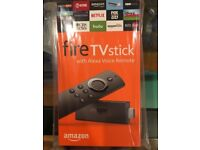 Brand NEW unused 2nd Generation Fire TV Stick with Alexa Voice Remote fully loaded