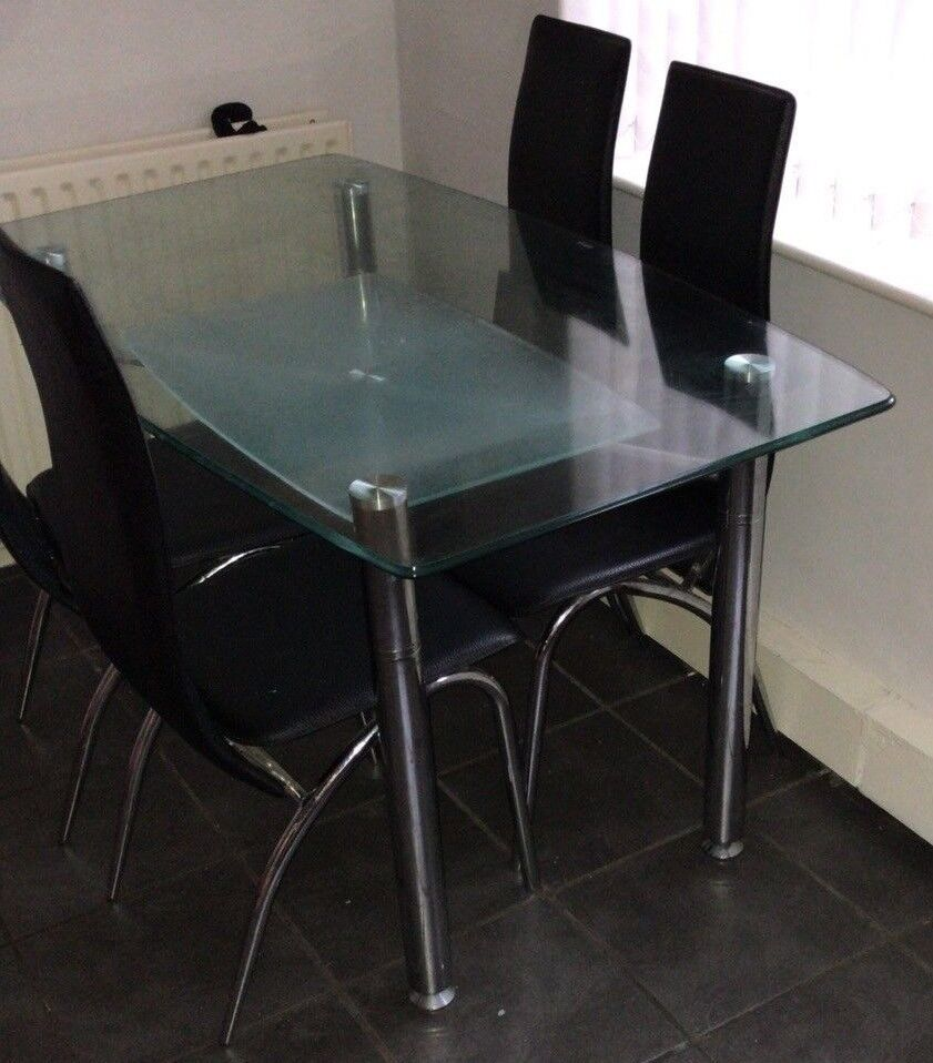 2 Tier Dining Table And 4 Chairs Rotherham
