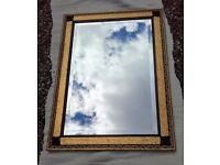 Rectangular embellished mirror