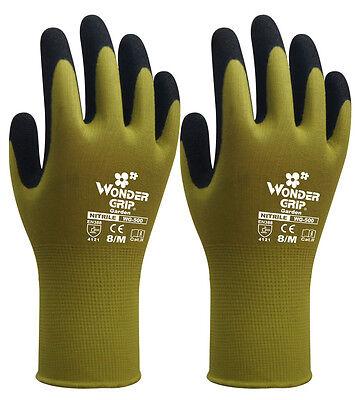 Children Garden Work Gloves 6 Pairs Wonder Grip Nitrile Sandy Safety Glove