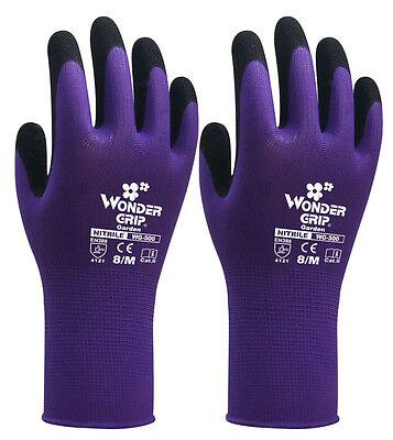6 Pairs Child Gardening Work Gloves Wonder Grip Nitrile Sandy Safety Gloves