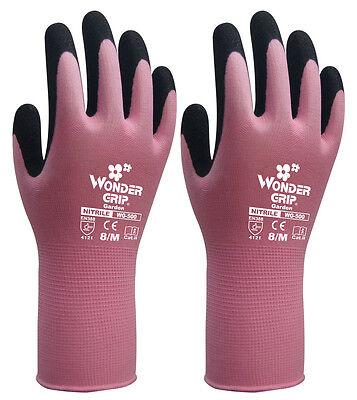 6 Pairs Children Garden Work Gloves Wonder Grip Nitrile Sandy Safety Glove