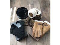 Genuine ugg gloves and earmuffs