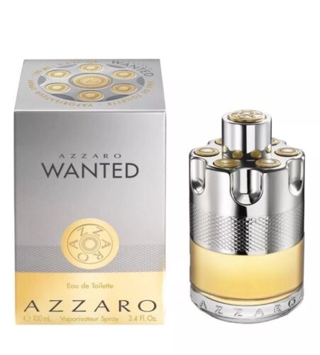 AZZARO WANTED 3.4 Oz EDT COLOGNE SPRAY FOR MEN NEW IN SEALED BOX