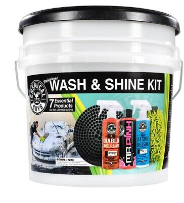 Car Wash and Shine 7 Piece Kit Detailing Automotive Car Supplies  Car Wash Detailing Supplies