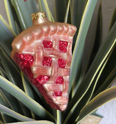 Strawberry Apple Or Cherry Pie Glass Ornament Dessert Food Sur La Table Disney