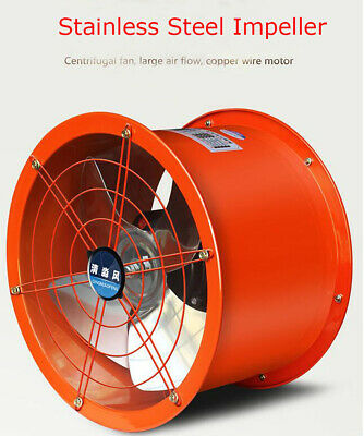 Explosion-proof 14 Axial Fan Cylinder Pipe Spray Booth Paint Fumes Exhaust Fan