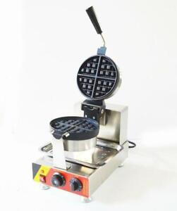 USED Electric Nonstick Single Rotary Waffle Baker Maker Machine 110V Waffle Machine (022384)