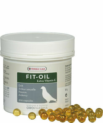 Versele Laga Fit-Oil 300 Pills Cod Liver Capsules Pigeon Poultry Extra Vitamin E