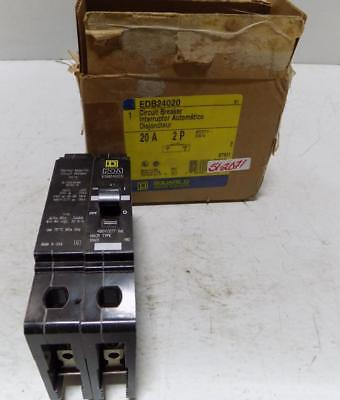 Square D 20a 480v 2 Pole Circuit Breaker Edb24020 Box
