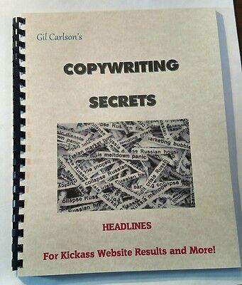 Copywriters Secret Book Of How To Write Headlines Boost Website Marketing Sale