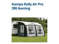 CARAVAN AWNING FOR SALE - KAMPA AIR PRO 390 INFLATABLE - 2017 MODEL