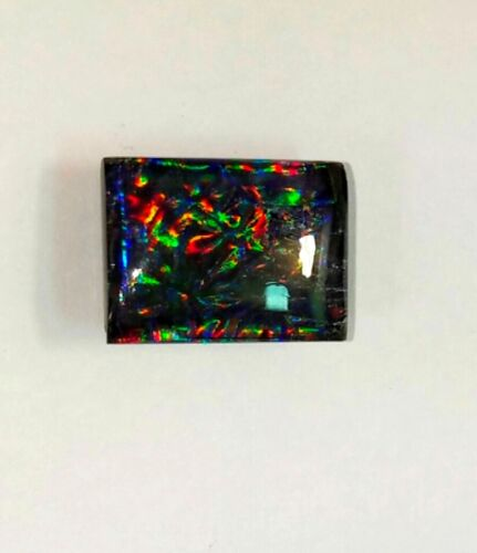 16.80 Cts Amazing Black Doublet Multi Fire Opal Cabochon Loose Gemstone