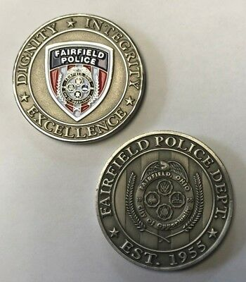 Fairfield Ohio Police Dept City of Opportunity Est 1955 Challenge Coin 1.5