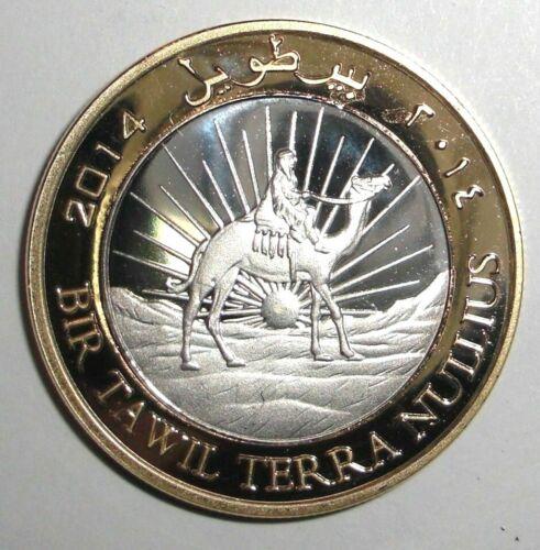 2014 Bir Tawil 2 pounds, Camel with rider, animal wildlife, bi-metallic coin