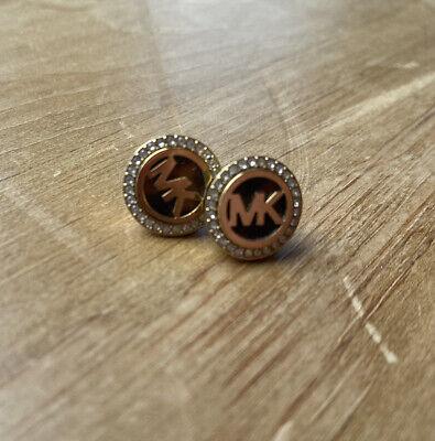 Michael Kors MK Logo Tortoise And Gold Earring Studs