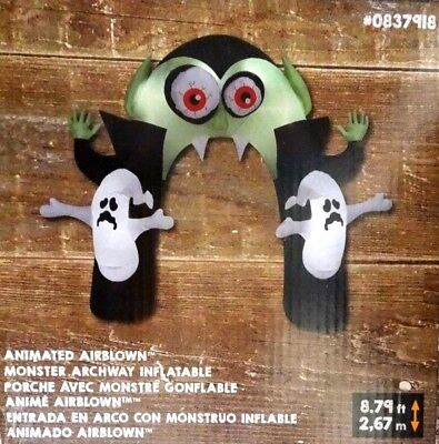 Dracula Ghost Archway 9' Animated Inflatable Swirling Eyes Halloween New