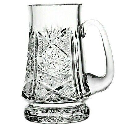23 fl oz Crystal Beer Stein. Made in Belarus High Quality Crystal Glass Mug