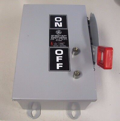 Ge Th3321j Model 10 30a 30 A Amp 240 Ac 250 Dc Fusible Safety Disconnect Switch