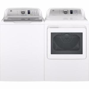 White 5,3 pi3 Washer, 7.4 pi3 Dryer Combo, Top Load