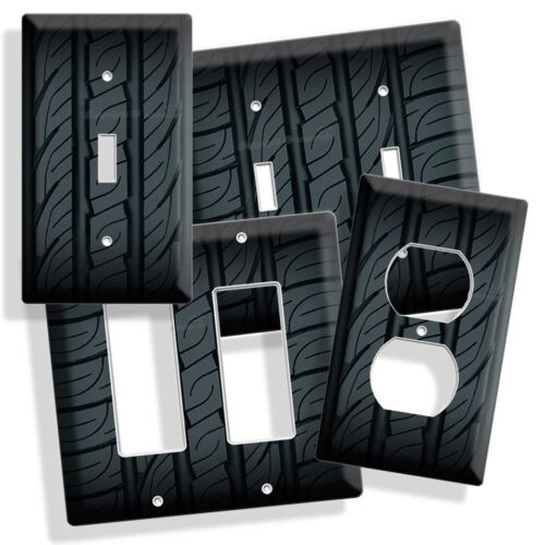 SPORTS CAR TRUCK RUBBER TIRE LIGHT SWITCH COVER WALL PLATE G